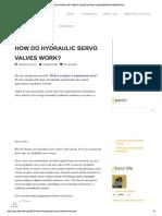 Servalve Operation