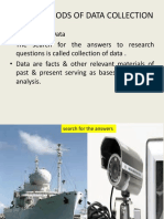 Unit –IV Methods of Data Collection