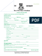 Students Personal Details