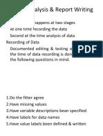 Unit-V Analysis & Report Writing
