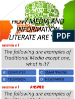 How Media and Information Literate Are You