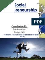Social Entrepreneurship Btech