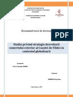 Kissiedou Serge Gomis - Studiu privind strategia dezvoltarii  comertului exterior al Coastei de Fildes in  contextul globalizarii
