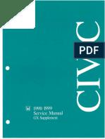 Honda Civic GX Service Manual 1998-1999