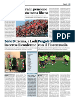 La Provincia Di Cremona 05-08-2017 - Tessera Tifoso