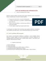 2. Formulación de Modelos de Optimización
