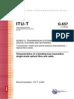 Recomendación UIT-T G.657_2017