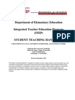 ITEP Student Teaching Handbook