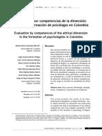 Evaluación por competencias de la dimension etica en la formacion de ps Colombia.pdf