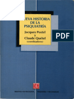 Postel y Quetel. Nueva Historia de La Psiquiatria