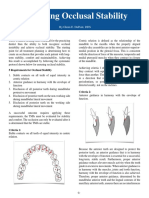 Guidelines for Achieving Occlusal Stabil