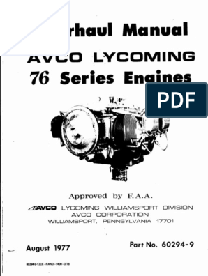 Lycoming O320-H2AD 76 Overhaul Manual | Cylinder (Engine