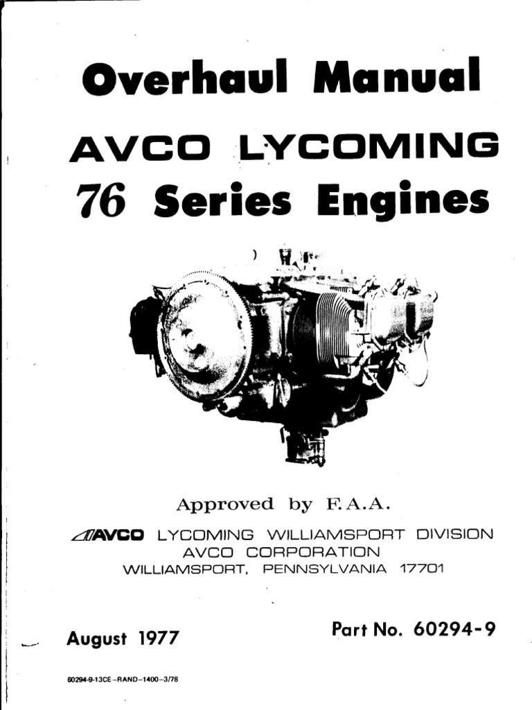 Lycoming o320 h2ad 76 overhaul manual cylinder engine piston sciox Image collections
