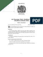 Air Passenger Duty Abolition Act (Northern Ireland) 2016