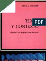 Van Dijk, Teun - Texto y Contexto