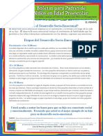 What is Social Emotional Development PPP SUMMER Spanish