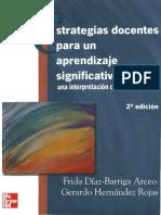 Diaz Barriga, - Estrategias Docentes Para Un Aprendizaje Significativo