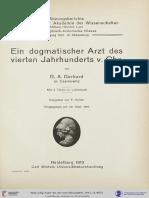 Gerhard, Ein Dogmatischer Arzt Des Vierten Jahrhunderts v. Chr. (1913)