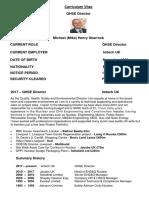 30 07 17 Curriculum Vitae M H Sharrock