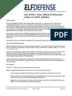Law of Self Defense LEVEL 1 CLE IL & WI Syllabus v181013