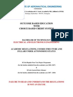 Iare_e Autonomous Regulations and Syllubus_12 | Course