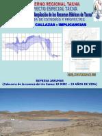 Represa Callazas Implicancias - Tacna