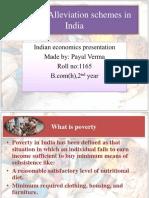 Poverty Alliviation