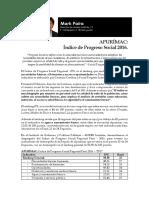 APURÍMAC Indice de Progreso Social Regional