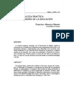 Francisco Altarejos Masota - La naturaleza práctica de la filosofía de la educación