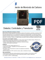 Sensor de Monoxido CM6 Pantalla Digital