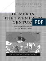 Graziosi/Haubold (ed.), Homer in the Twentieth Century