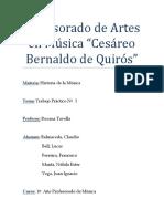 Profesorado de Artes en Música T.P Historia de La Musica