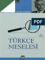 Ali Fuad Başgil - Türkçe Meselesi
