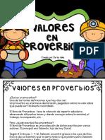 Valores en Proverbios