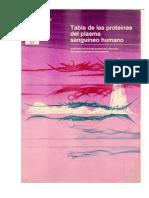 Tabla de Las Proteinas Del Plasma Sanguineo Humano