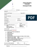 5 - participant profile form