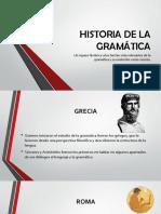 historia de la gramática
