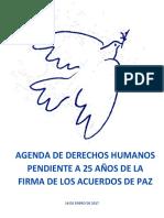 Agenda 25 Puntos Para 25 Años de Paz 10012016