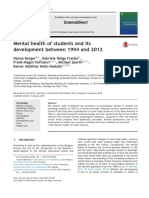 Mental Health of Students and Its Development Between 1994 and 2012