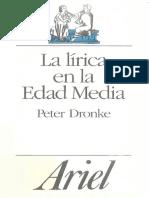 Dronke - La Lírica en La Edad Media
