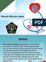 Pleural Effusion Index
