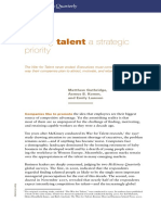 Making Talent a Strategic Priority