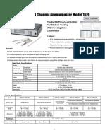 Kanomax 1570 Anemomaster Data Sheet