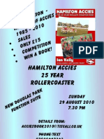'Hamilton Accies The 25 Year Roller Coaster Ride' book launch night