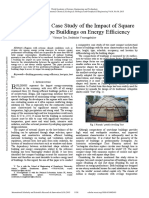 A Comparative Case Study of the Impact of Square and Yurt Shape Buildings on Energy Efficiency