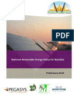National Renewable Energy Policy for Namibia DRAFT June 13 1