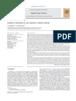 Stability of bentonites in salt solutions | sodium chloride