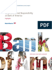 Bank of America 2012 Corporate Social Responsibility Highlights