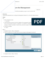 How to Configure the Management Interface IP