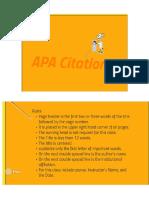 APA Citation Lecture